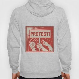 protest design - lots of furious people (man holding transparent, demonstrations) Hoody