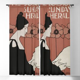 The Boston Sunday Herald (1895–191) vintage poster Blackout Curtain