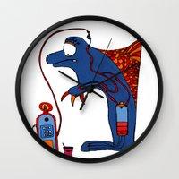 dolphin Wall Clocks featuring Dolphin by JBLITTLEMONSTERS
