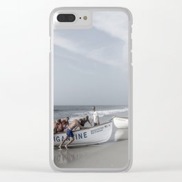 Beach Patrol, Jersey Shore Clear iPhone Case