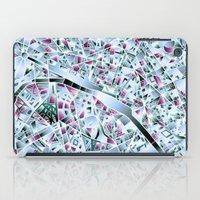 paris map iPad Cases featuring Paris map by Bekim ART