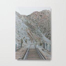 Tracks at Sunrise Metal Print
