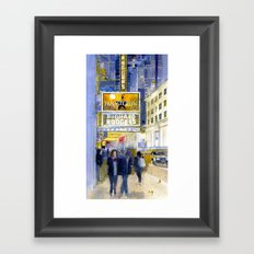 Richard Rodgers - NYC - Broadway - Theater District Framed Art Print