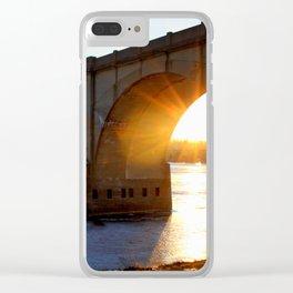 Sunset Bridge Clear iPhone Case