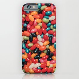 Vintage Jelly Bean Real Candy Pattern iPhone Case