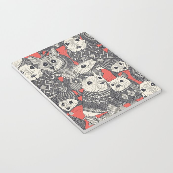 sweater mice coral Notebook
