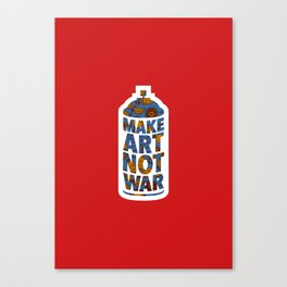 Make Art Not War (African print red) Canvas Print