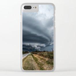 Mothership - Intense Autumn Storm Advances Over Oklahoma Plains Clear iPhone Case