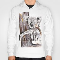 cuddle Hoodies featuring koala cuddle by Katy Lloyd