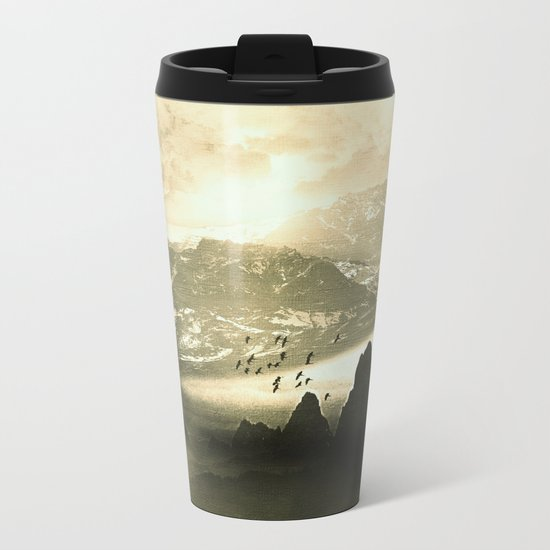 Winter. Melody. Metal Travel Mug