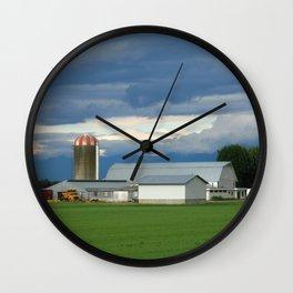 Verdant Farmland Wall Clock