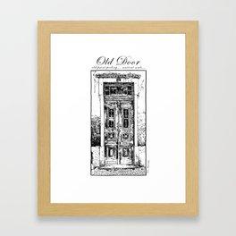 Lisbon Old Door, Old Paint Peeling... Ancient souls... Framed Art Print