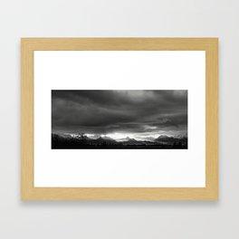 Sunrise over Kachemak Bay, Alaska - Black and White Framed Art Print