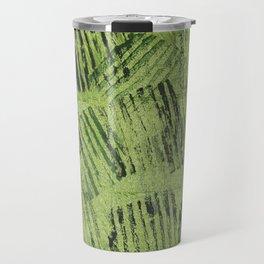 Green lines Travel Mug