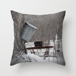 Sugaring 3 - Maple Syrup Throw Pillow