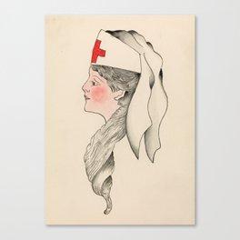 Vintage Tattoo Army Nurse Design Canvas Print
