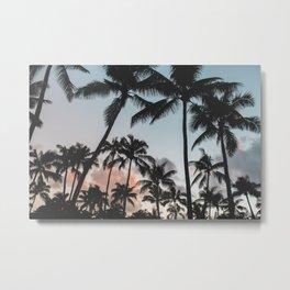 Summer Silhouette Metal Print