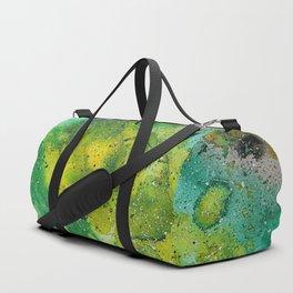 Yellow green galaxy Duffle Bag