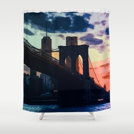 Sunsets of New York Shower Curtain