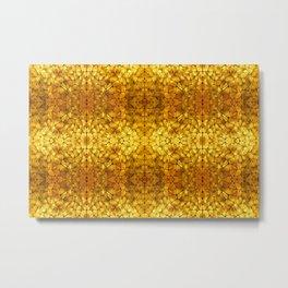 Gold Tortoise Shell Pattern Metal Print