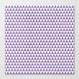triangles- purple and white Canvas Print