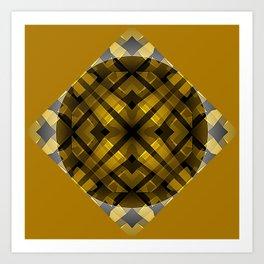 The Butterscotch Wheel Art Print