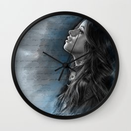 Camila Digital Painting with Bad Things Lyrics Wall Clock