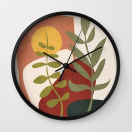 Two Abstract Branches Wall Clock