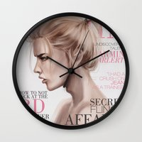 snk Wall Clocks featuring SnK Magazine: Armin by emametlo