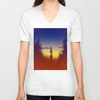 tolkien V-neck T-shirts featuring Wander Night Noise by Stoian Hitrov - Sto