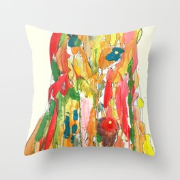 un corps comme continent Throw Pillow