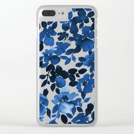 Sophia Floral Blue Clear iPhone Case