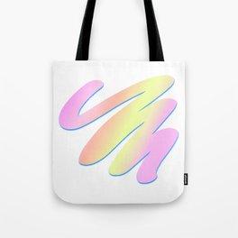 Pastel Scribble Tote Bag