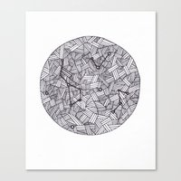 constellation Canvas Prints featuring Constellation by Inked in Red