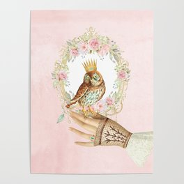 Owl on the hand Poster