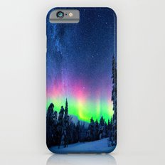 Aurora Borealis Over Wintry Mountains iPhone 6 Slim Case