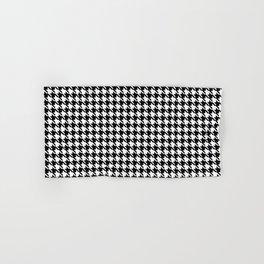 PreppyPatterns™ - Cosmopolitan Houndstooth - black and white Hand & Bath Towel