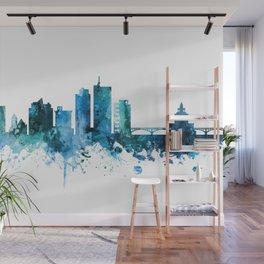 Cedar Rapids Iowa Skyline Wall Mural