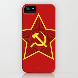 Red Star Hammer and Sickle iPhone Case