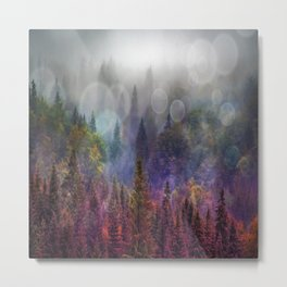 Four Seasons Forest Metal Print