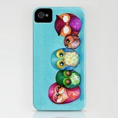 Fabric Owl Family iPhone (4, 4s) Slim Case