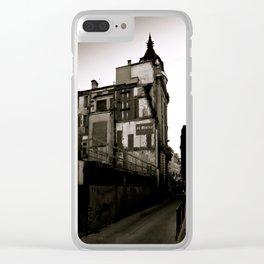 Surrealist Urban City. Clear iPhone Case