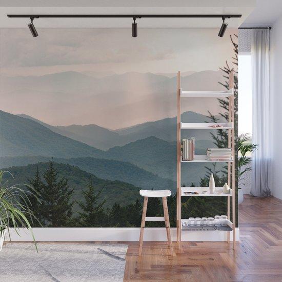 Smoky Mountain Pastel Sunset by cascadia
