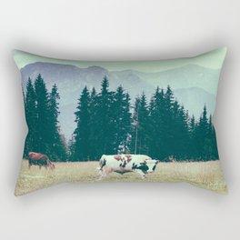 Cows and Mountains Rectangular Pillow