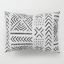 Line Mud Cloth // Light Grey Pillow Sham