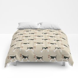 Wire Fox Terrier dog pattern dog lover gifts for dog person dog breeds pet friendly Comforters