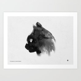 Cat Portrait (Ink Painting) Art Print