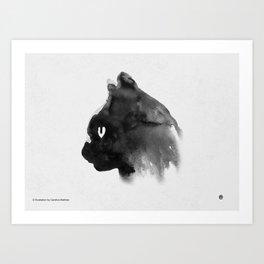 Cat Portrait (Ink Painting) Art Print