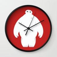 baymax Wall Clocks featuring Baymax by Polvo