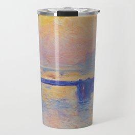 Claude Monet - Charing Cross Bridge Travel Mug
